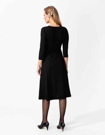 Rib 3/4 sleeve dress