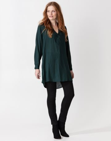 Solid long sleeve tunic