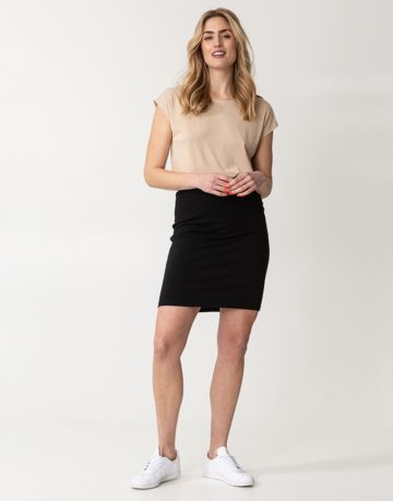 Solid jersey mini skirt