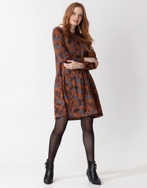 Patterned buttoned tunic