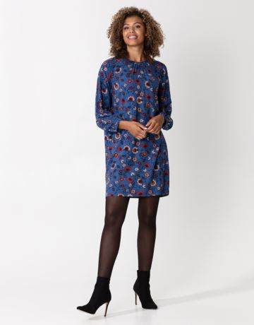 Patterned long sleeve tunic