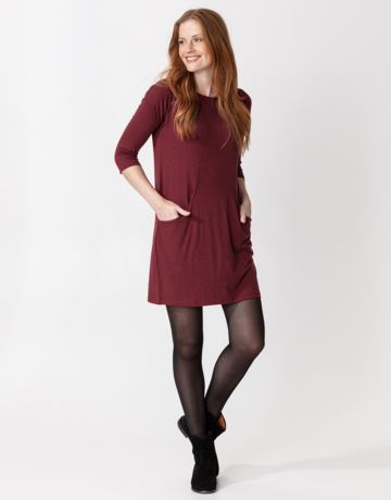 Side pocket jersey tunic