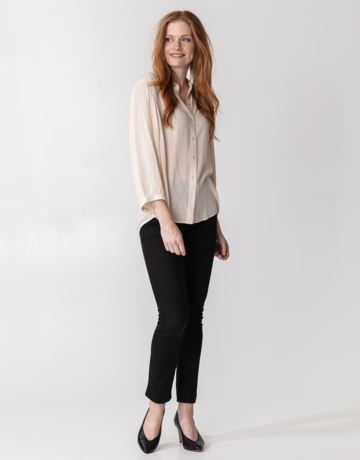 Solid long sleeved blouse
