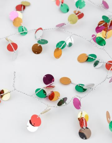Christmas disc sequin garland