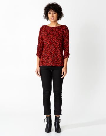 Patterned jersey top
