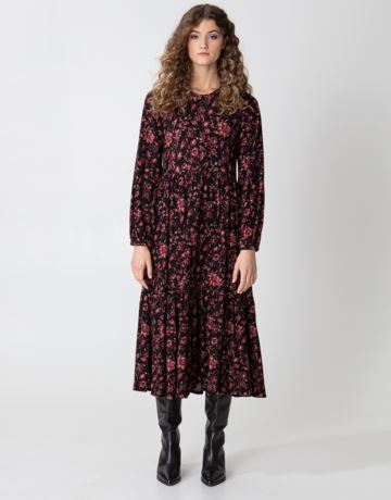 Floral long sleeved maxi dress