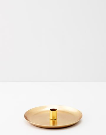 Gold toned candle holder