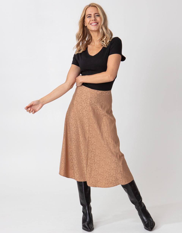 Jacquardmönstrad kjol