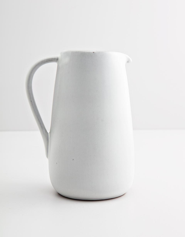 Indiska White ceramic pitcher   White