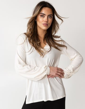 Long sleeved jersey blouse