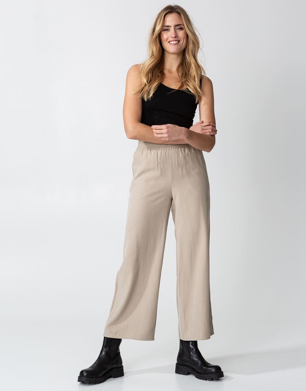 Indiska Wide elasticated waist pants S  Beige