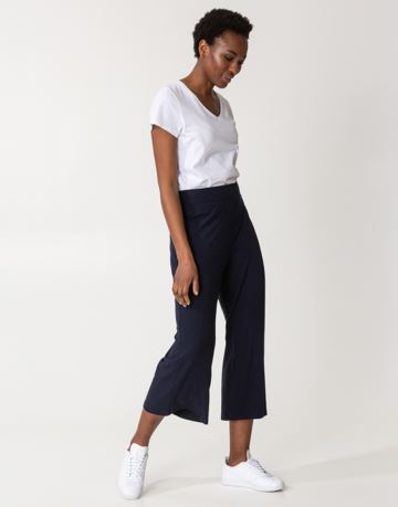 Solid rib jersey pants