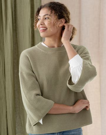 Organic cotton knitted sweater