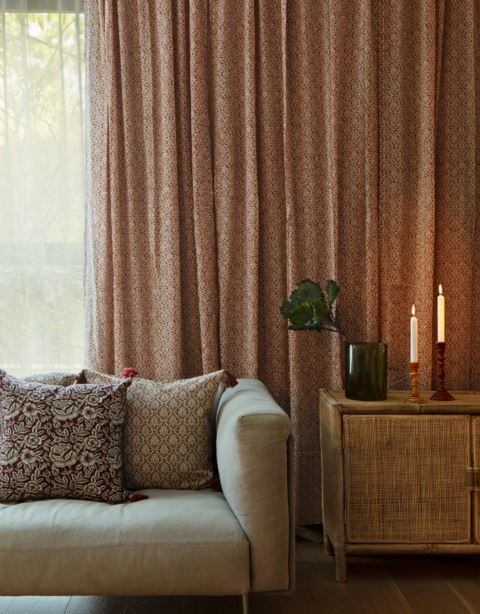 Patterned cotton curtain